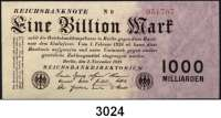 P A P I E R G E L D,I N F L A T I O N 1 Billion Mark 1.11.1923.  Ros. DEU-155c.